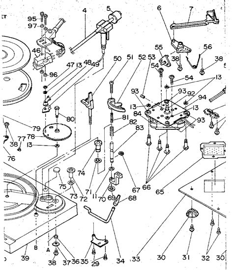 record player parts diagram lxi record player chassis parts model 56497930250