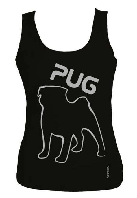 pug vest pug outline t shirt vest tank top