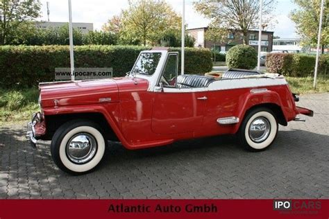 convertible jeep truck 1948 jeep jeepster convertible rarity car photo and specs