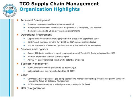 Mba Supply Chain Management Houston by Ppt Tco Supply Chain Management Overview For Leo