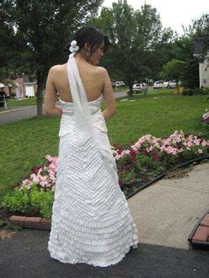 How To Make A Paper Dress To Wear - wear a dress made of toilet paper help the world or at