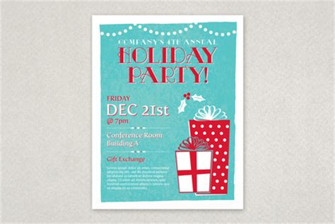 classic holiday party flyer template inkd
