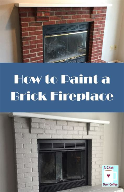 How Do You Paint A Brick Fireplace by You Can Do It Learn How To Paint A Brick Fireplace With A