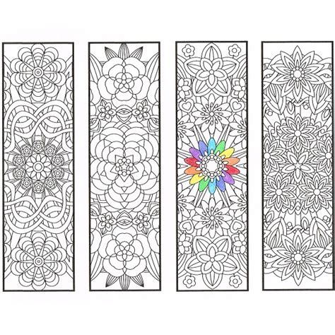 printable mandala bookmarks flower mandala bookmarks page 1 candyhippie coloring pages