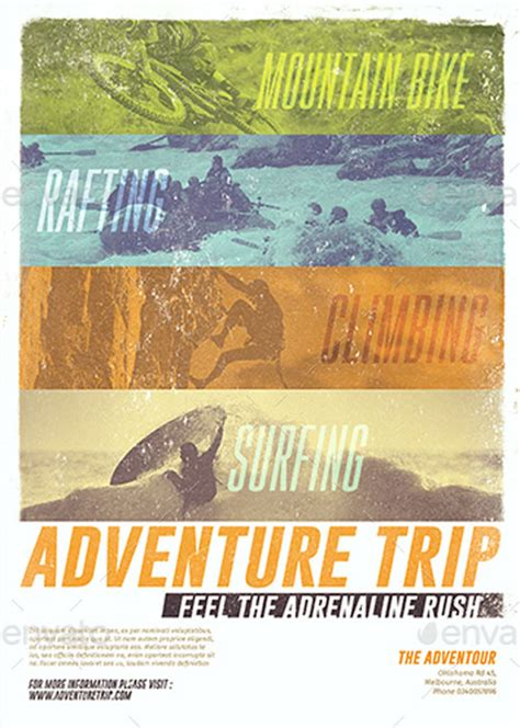 Trip Flyer Templates Free ffflyer adventure trip flyer template for photoshop