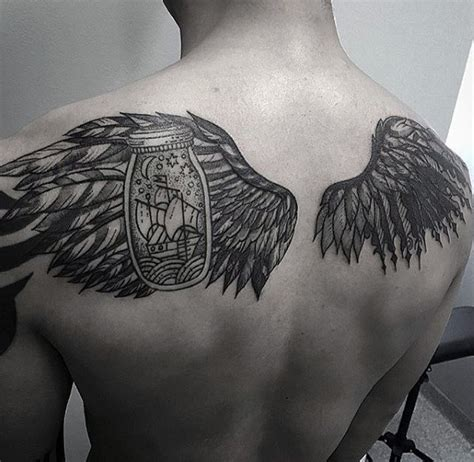 back wing tattoos for men wing back www pixshark images galleries