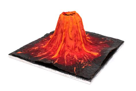 Volcano Papercraft - how to make a clay volcano hobbycraft