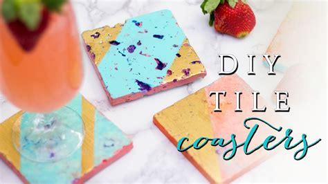 diy tile coasters make something mondays how to make a drink coaster diy tile coasters youtube