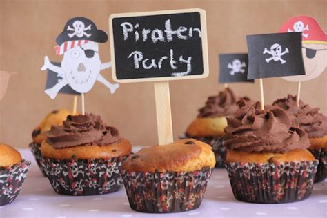 Kinder Schoko Bans By Organicbatam piraten kindergeburtstag schoko cupcakes selber machen