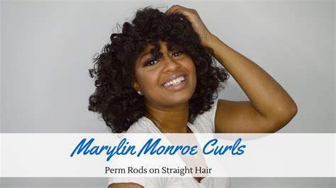 rod curl straight hair perm rods on straight hair reving a blow out youtube