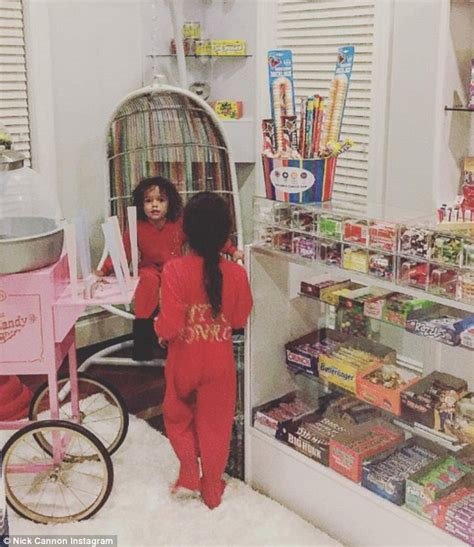 nick cannon reveals he has a candy store in his home for