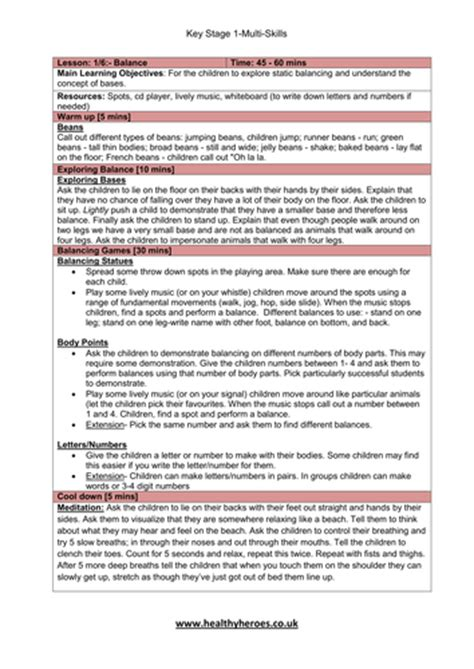 primary pe lesson plan ideas for teachers hockey halfway pass key stage 1 multi skill lesson plans by mikemcgreal