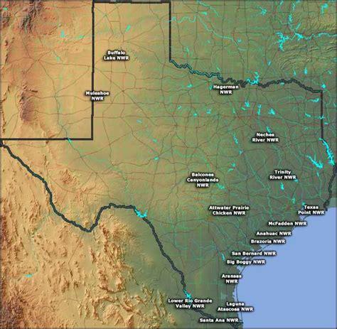 texas national wildlife refuges map national wildlife refuges in texas texas national wildlife refuges