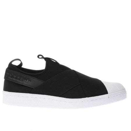 Adidas Supetstar Slip On White womens black white adidas superstar slip on trainers schuh