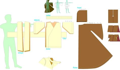 free pattern jedi cloak jedi robe sewing pattern jedi robes lightsabers and