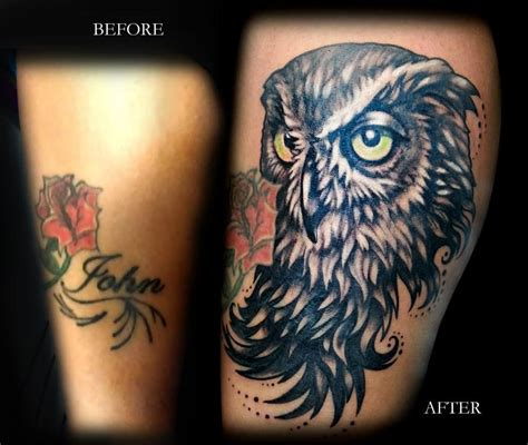 tattoo cover up before and after before and after cover up done at