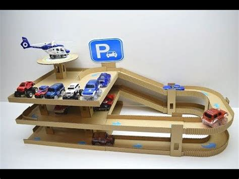 Cars Parking Track diy car track with parking of cardboard