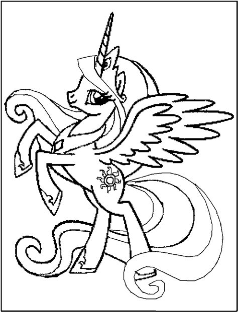 Free Printable My Little Pony Coloring Pages For Kids My Pony Color Page