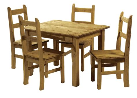 Solid Pine Dining Table Solid Pine Dining Set Table And 4 Chairs Corona Mexican Wood Dining Set 5036464035741 Ebay