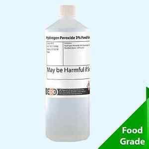 perossido di idrogeno alimentare food grade hydrogen peroxide 3 1 litre 1l ebay