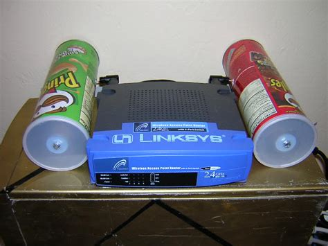 pringles cantenna right on the router geeks