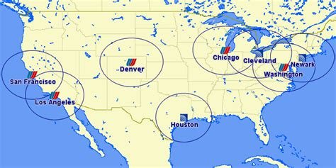 airline hubs of north america kids maps a united hub near you your family united