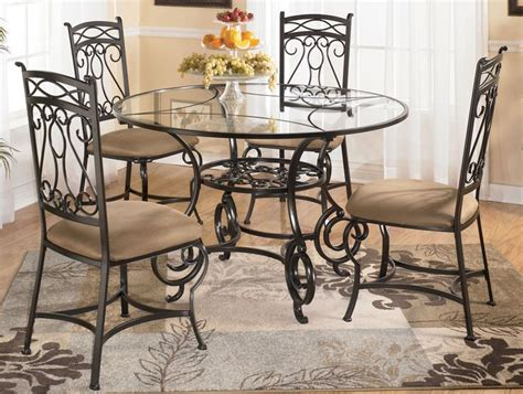 round glass top dining room tables bianca round glass dining table with four chairs by