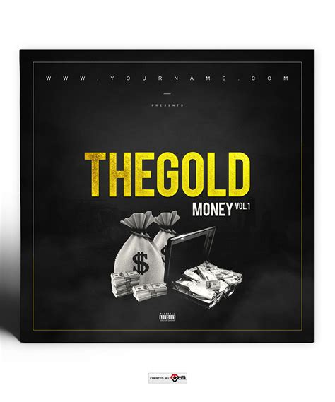 Gold Money Mixtape Cover Template Vms Rolling Cover Template Photoshop