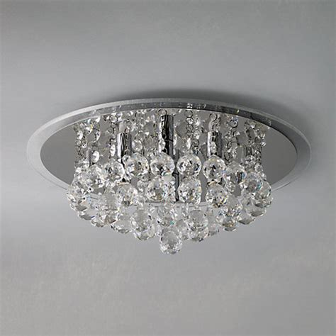 Buy John Lewis Belinda Flush Ceiling Light Chrome Lewis Flush Ceiling Lights