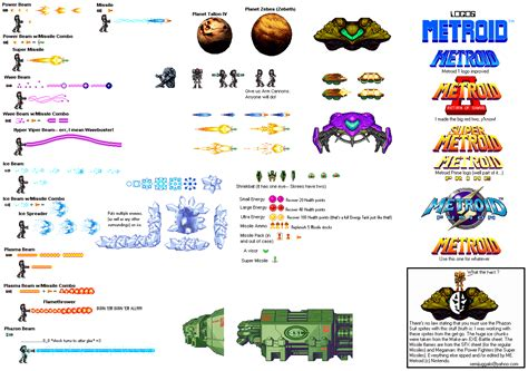 Box Beam the spriters resource full sheet view metroid customs