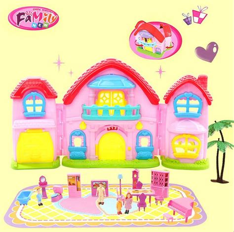 big doll house for kids big size cute doll house for girls birthday gifts dollhouse with furniture piano dolls