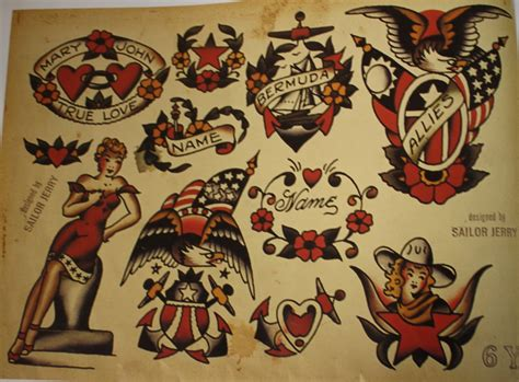 jerry sailor tattoo designs 1000 images about flash on sailor