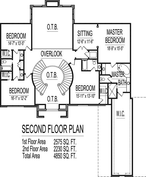 4 Bedroom 2 Story House Plans 4500 Sq Ft Atlanta Augusta 4500 Sq Ft House Plans