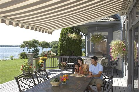 sunsetter awnings installation sunsetter motorized retractable awnings in la by galaxy