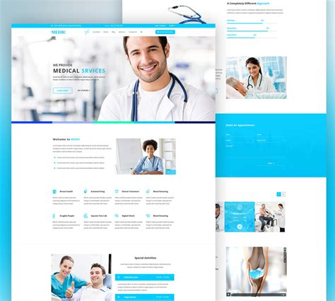 layout web free psd medical services website free psd template download