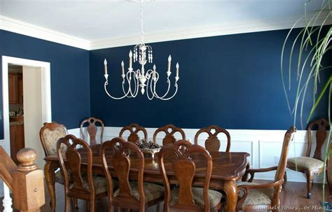 navy blue dining room chair rail accent living room dining room blue dining room dining room paint
