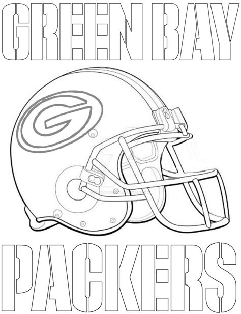 Green Bay Packers Logo Coloring Page Free Printable Green Bay Packers Coloring Pages