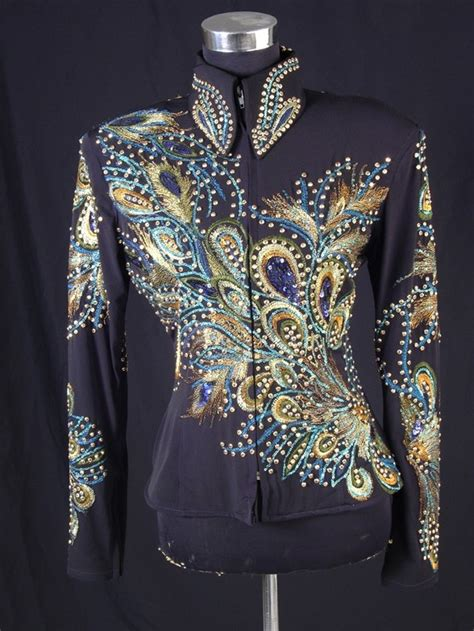 design horse riding clothes show diva designs blue peacock jacket show very chic