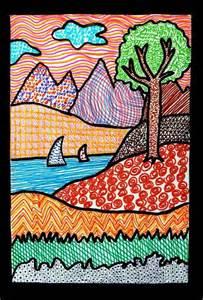 Landscape Line Lines And Pattern Landscapes School