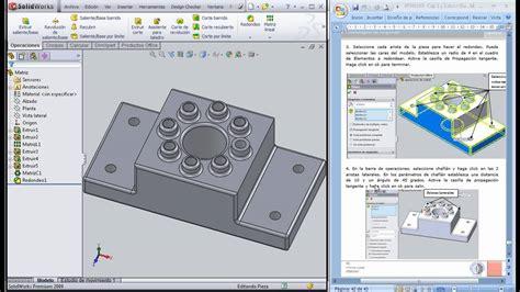 tutorial solidworks espanol tutorial solidworks espa 241 ol quot crear un redondeo y chafl 225 n