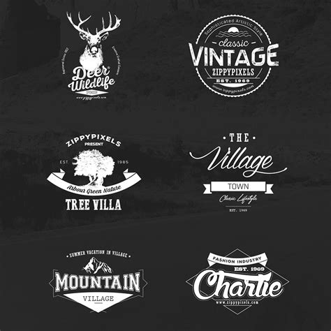 free retro logo templates vintage vector logo design kit with 15 free logo templates