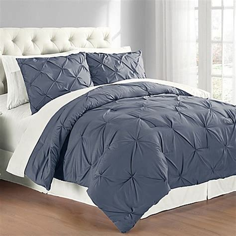 pintuck comforter set buy pintuck king comforter set in indigo from bed bath