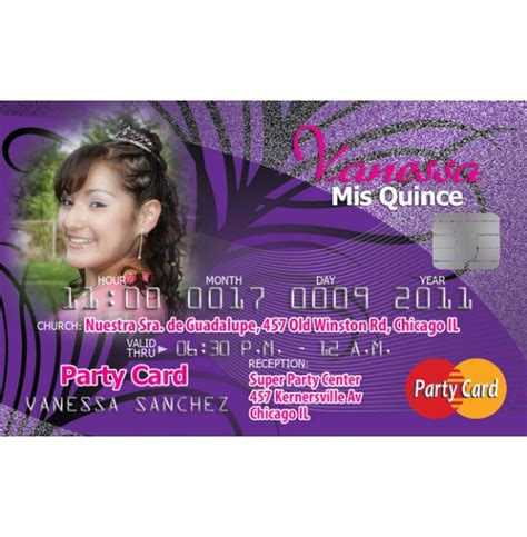 credit card invitation template best sle sweet 15 invitations cards birthday