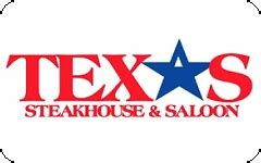 Texas Steakhouse And Saloon Gift Card Balance - buy texas steakhouse saloon gift cards at a discount giftcardplace