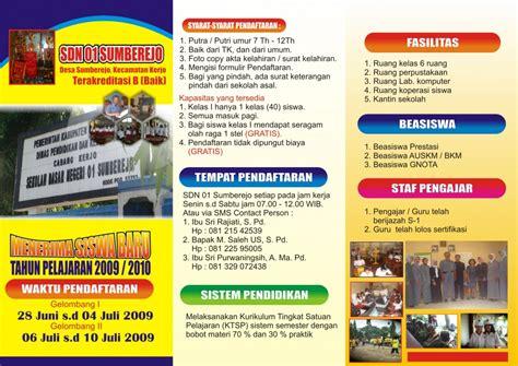 desain brosur promosi contoh brosur sekolah