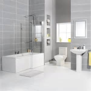 Light Grey Tiles Bathroom » New Home Design