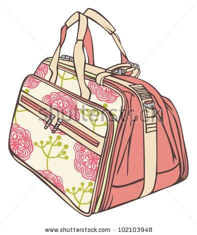 Tas Tangan Bag bag for traveling with a flower pattern stock vector