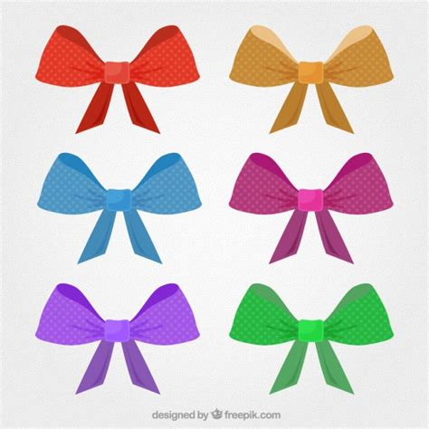 colorful bows colorful bows vector free