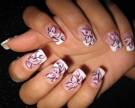 flower pattern on nails 25 cute acrylic nail designs for girls 2015 inspiring