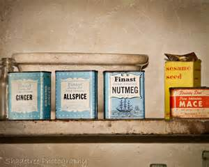 Vintage Kitchen Decor by Spices Vintage Baby Blue Sepia Kitchen By Shadetreephotography